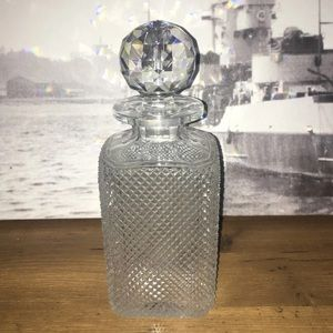 vintage crystal glass beverage decanter